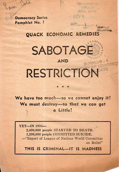 Quack economic remedies221