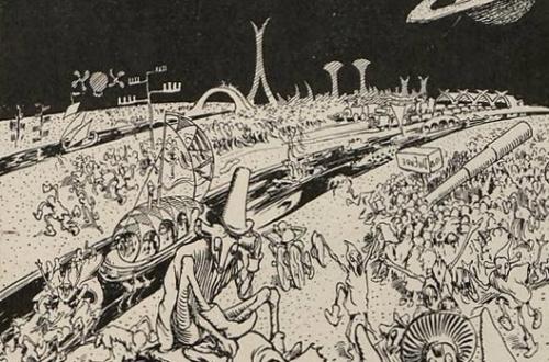Alien art Jugend 1896 detail