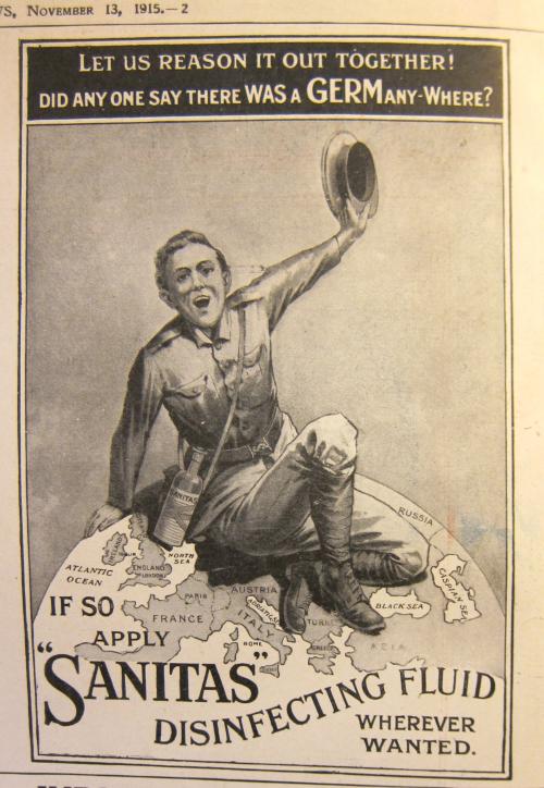 Maps WWI propaganda  Sanitas