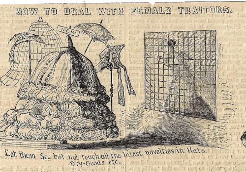 Harpers Weekly female traitor detail