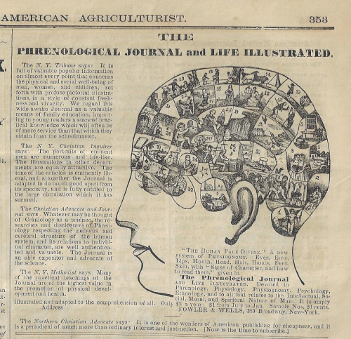 American Agriculturalist 1865 phreology