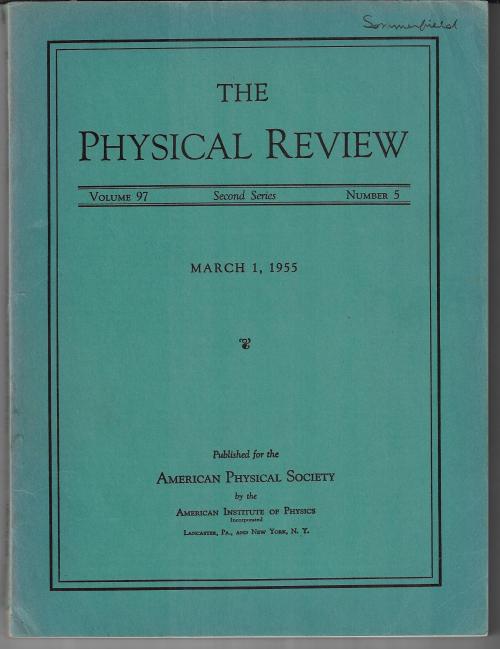 PR 1955 March Gell-Mann