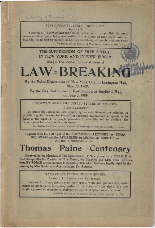 Goldman Law Breaking