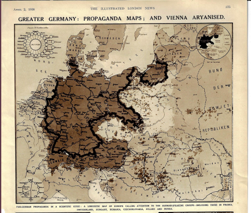 Maps Propaganda German speaking 1938