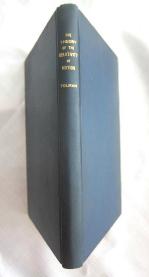 Tolman relativity book