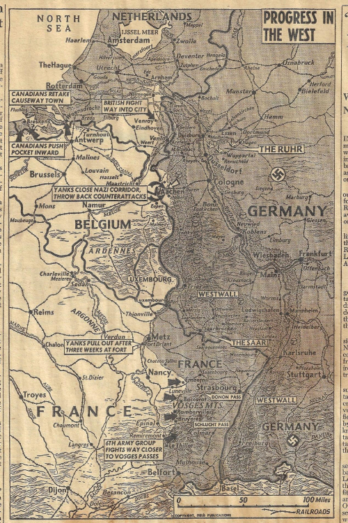 Maps PM Aachen 1944 Oct