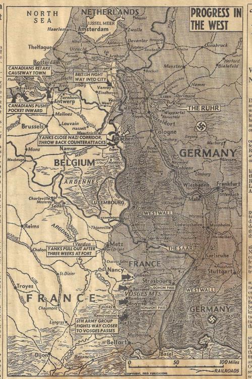 Maps PM Aachen 1944 Oct