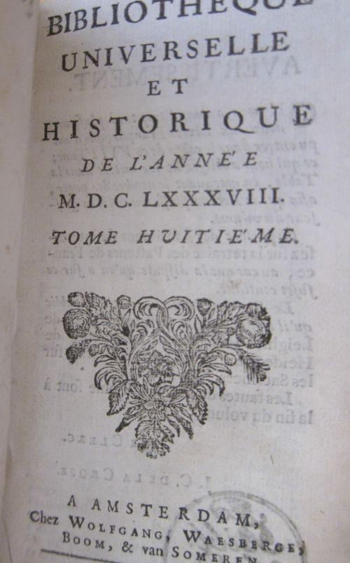 Bibliotheque vol 8 title page