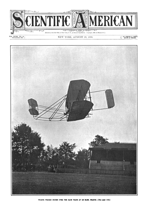 Wright flyer 1908 cover Sci Am