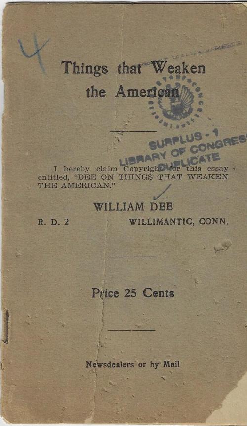 Books covers things that weaken america