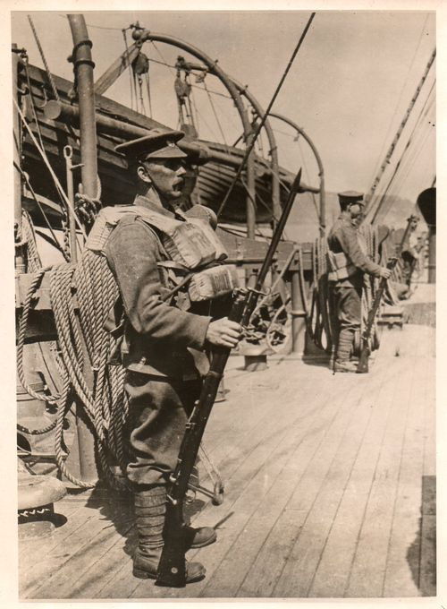 WWI Havily Laden Soldier268