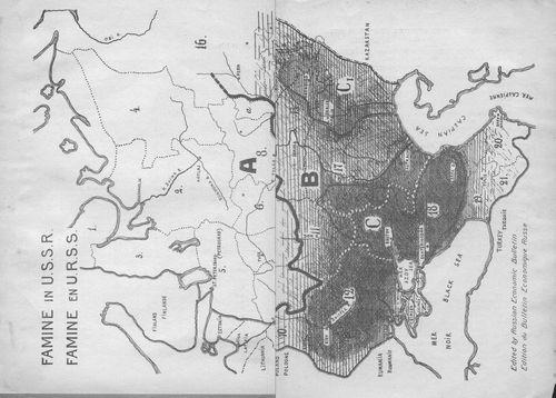 Map famine