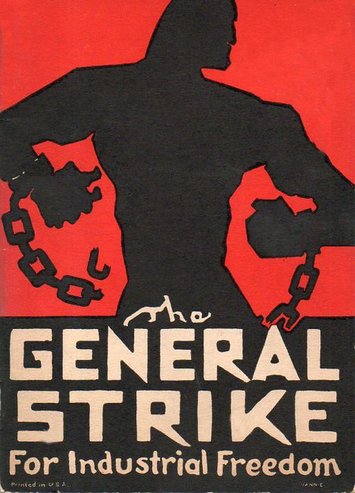 Poster Reprint  General Strike Public