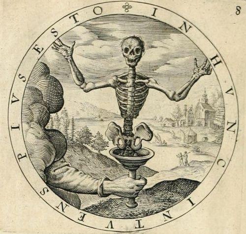 Emblem skeleton detail