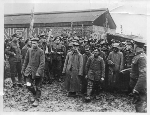WWI photo  GERMAN PRISONER CINEMAal747