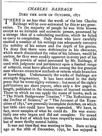 NATURE Babbage obit
