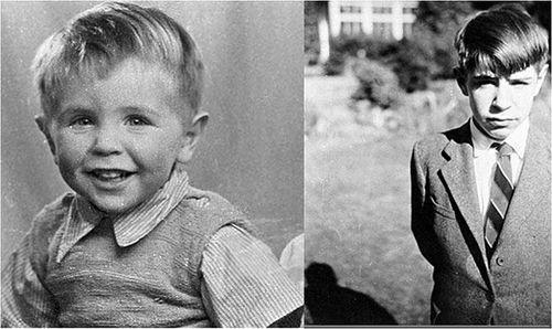 Scientist childhood pics hawking
