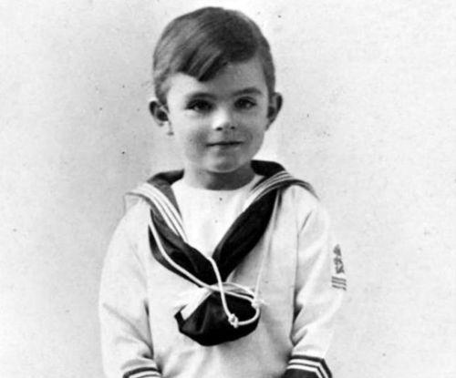 Scientist childhood pics turing