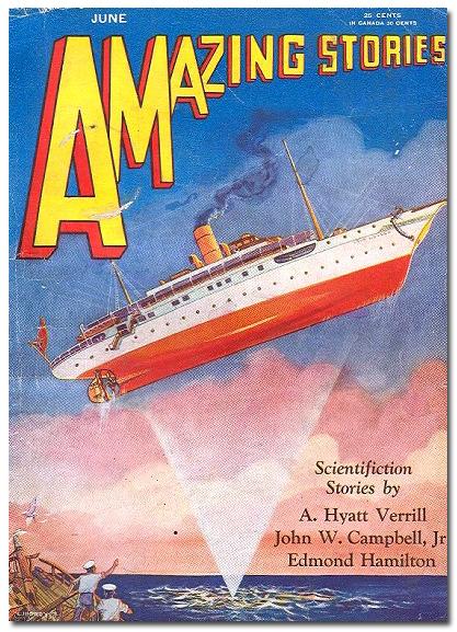 Amazing stories floating ship