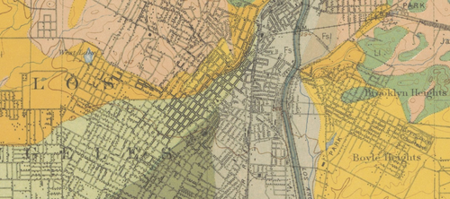 LA Soil Map 1903  Really big detail