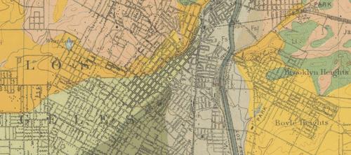 LA Soil Map 1903  Really big detail
