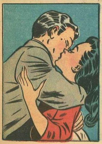 Kissing in teal