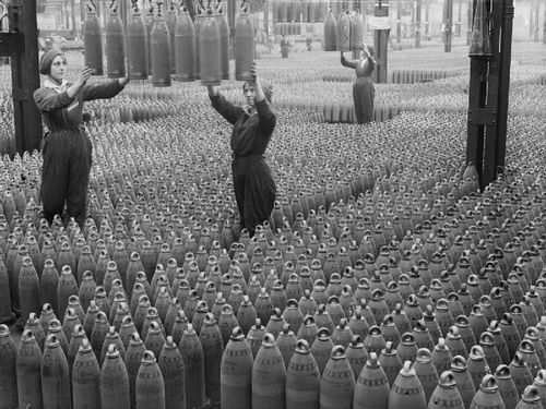 WWI shells canary girls