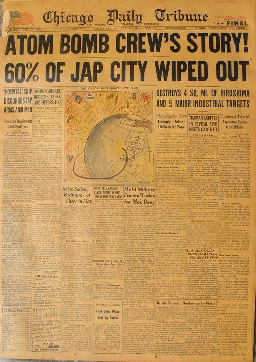 Hiroshima newspaper full