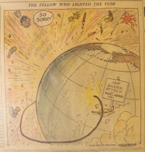 Hiroshima newspaper detail