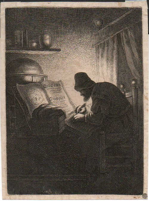 Etching man in study110