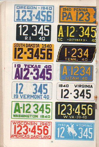 Auto  license plates162