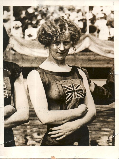 WWI Photos--female swimmer185