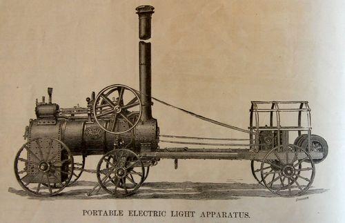 Electric light apparatus portable 1879