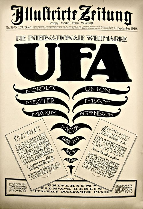 German design 1919 UFA
