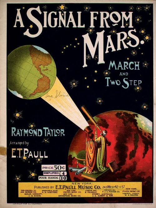 Mars, signal from