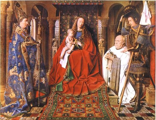Van Eyck virgin of the canon