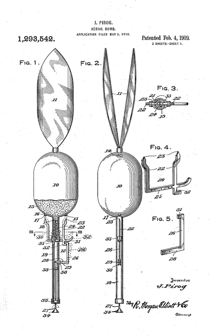 PAtent balloon aerial bomb 1919