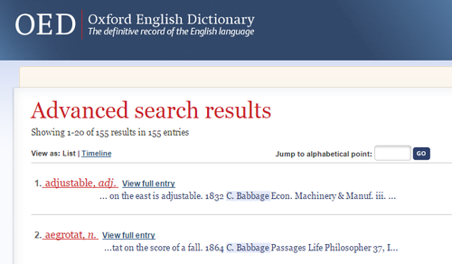 OED Babbage