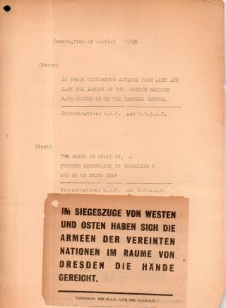 Leaflet reich is split up467