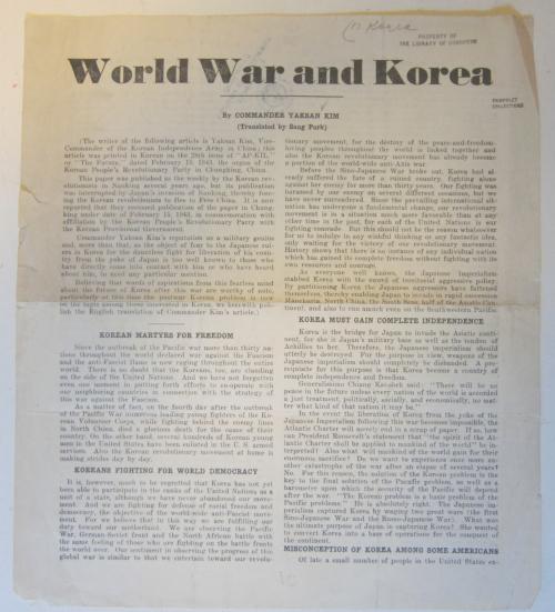 Wolrd War and Korea _1_