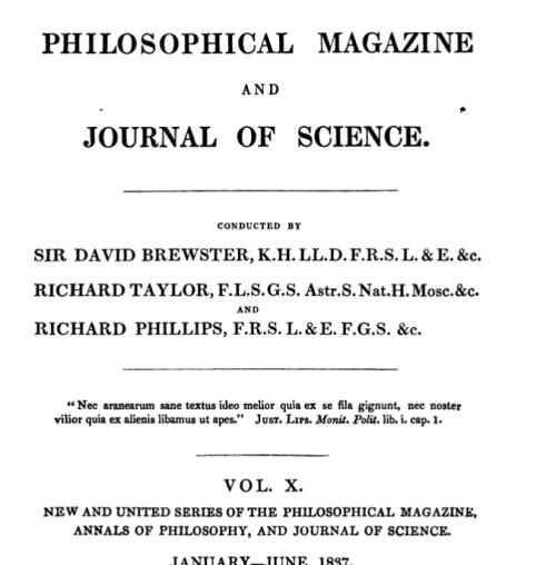 Philosophical Magazine quote