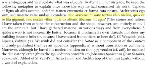 Lipsius notae translation