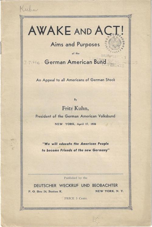 WWII German American Bund