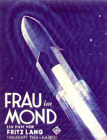 Rocket frau im Mond
