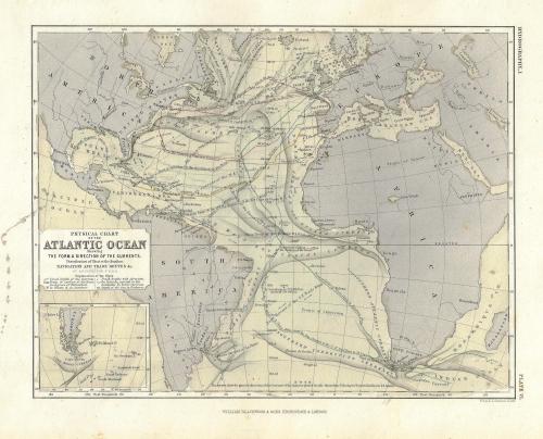 Maps ocena currents atlantic