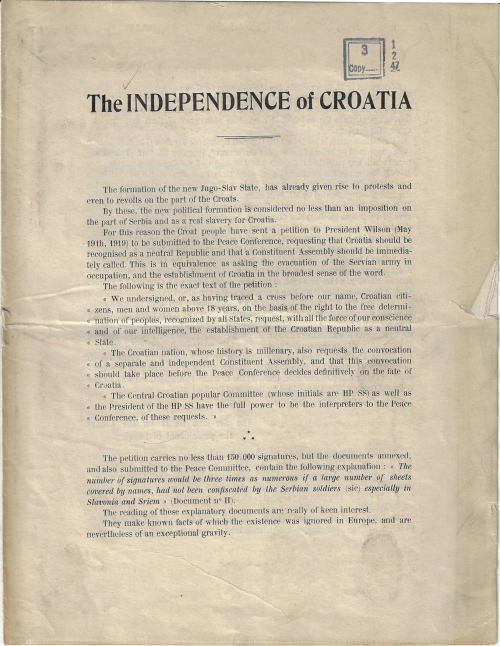 Independence of Croatia