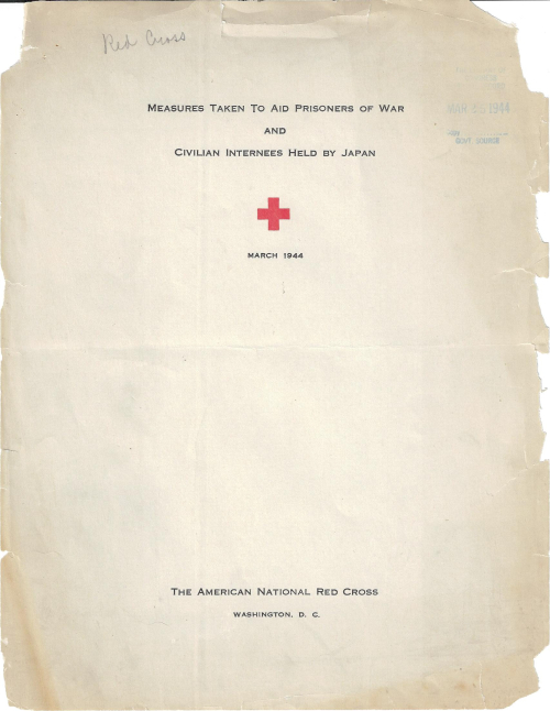 Red Cross Japan 1943