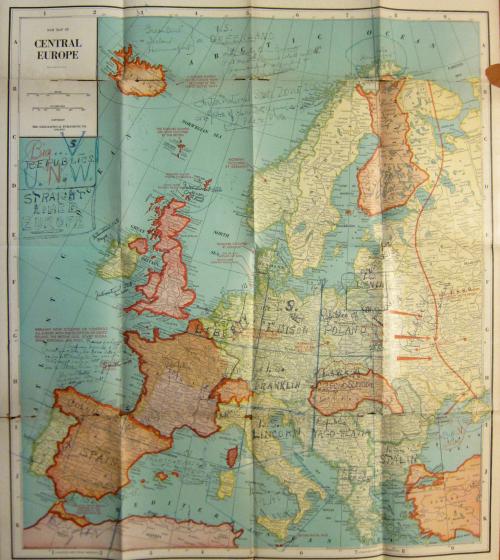 Maps Outsider 1945 EUrope