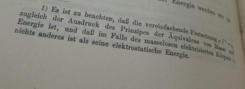 Einstein 1907 footnote quote