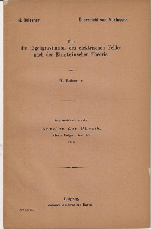 Reissner 1916 _1_